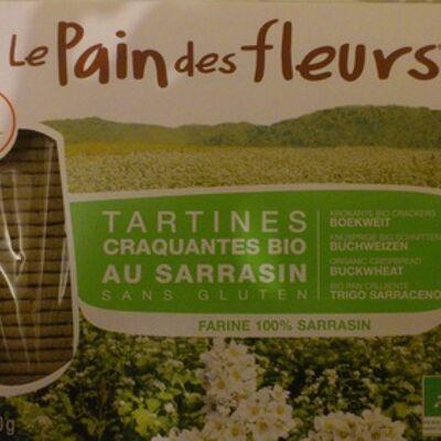 Tartines craquantes bio au sarrasin sans gluten (Le pain des fleurs)