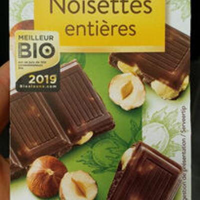 Chocolat noir noisettes entières bio (Bonneterre)