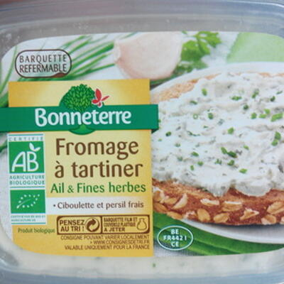 Fromage à tartiner ail & fines herbes (9 % mg) (Bonneterre)
