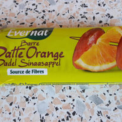 Barre de fruits datte orange (Evernat)