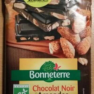 Chocolat noir amandes entières caramélisées (Bonneterre)