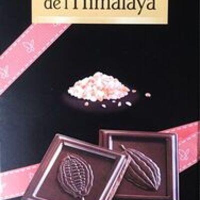 Chocolat noir sel rose de l'himalaya (Bonneterre)