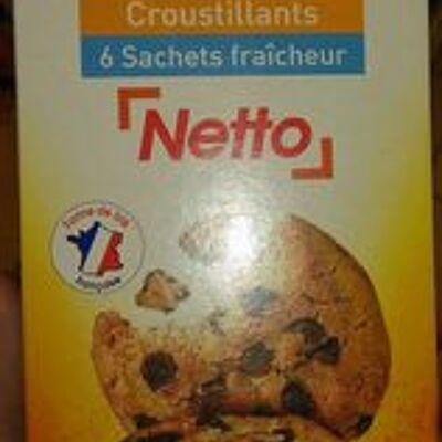 Cookies à la nougatine et aux pépites de chocolat (Netto)