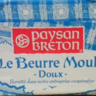 Le beurre moulé doux (82 % mg) (Paysan breton)