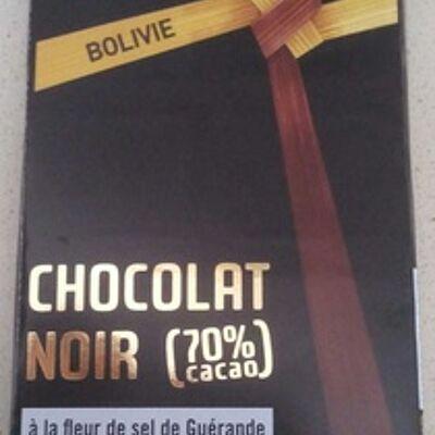 Chocolat noir (70%) à la fleur de sel de guérande (Artisans du monde)