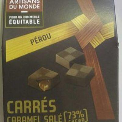 Carrés caramel salé (Artisans du monde)