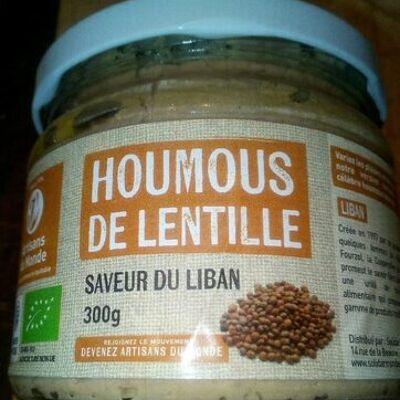Houmous de lentille (Artisans du monde)