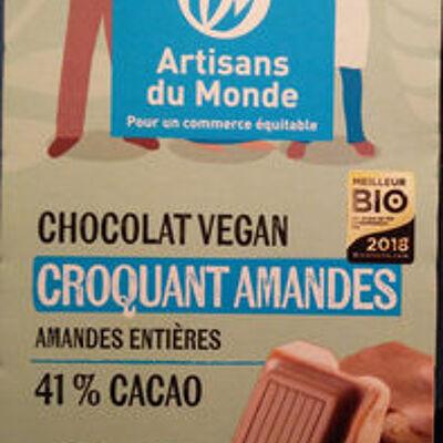 Chocolat vegan croquant amandes (Artisans du monde)