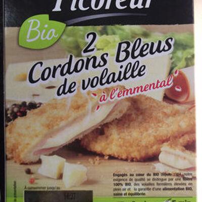 Cordons bleus de volaille à l'emmental (Le picoreur)