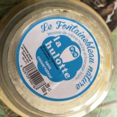 Dessert à base de fromage frais au lait pasteurisé et crème fouettée fontainebleau nature la hulotte coupelle 15cl (La hulotte)