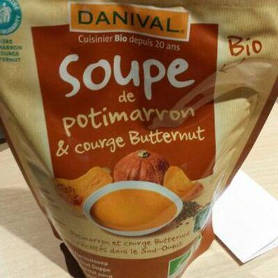 Soupe potimarron & courge butternut (Danival)