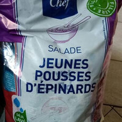 Salade jeunes pousses d'épinards (Metro chef)