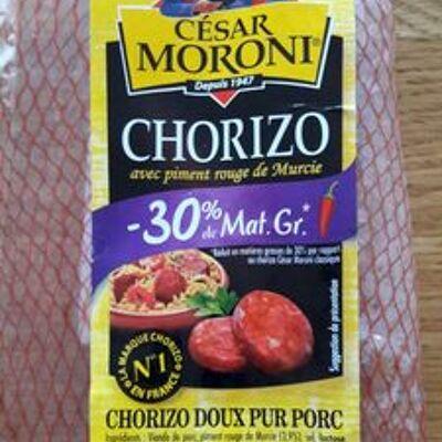 Chorizo doux pur porc -30% mg (César moroni)