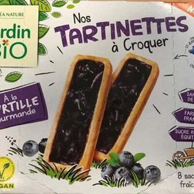 Tartinettes à la myrtille (Jardin bio)