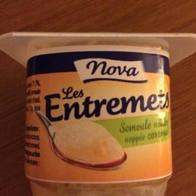 Semoule nature nappé caramel (Nova)