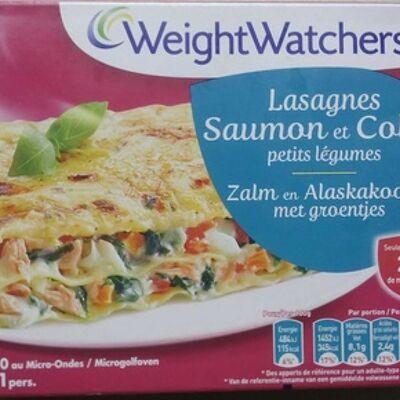 Lasagnes saumon et colin petits légumes (Weight watchers)
