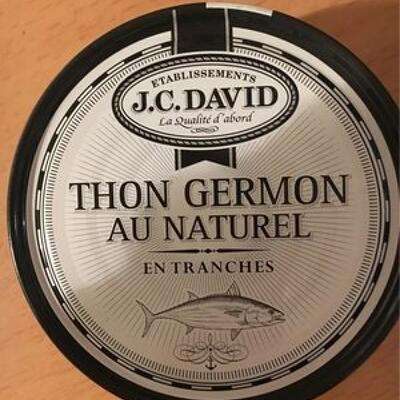 Thon germon au naturel (J.c.david)