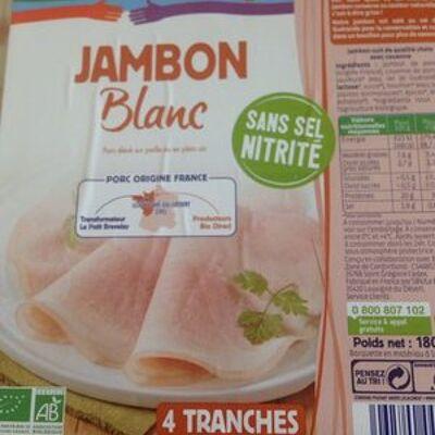 Jambon blanc sans sel nitrité (Ensemble)