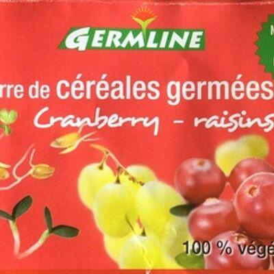 Barre de céréales germées cranberry - raisins (Germline)