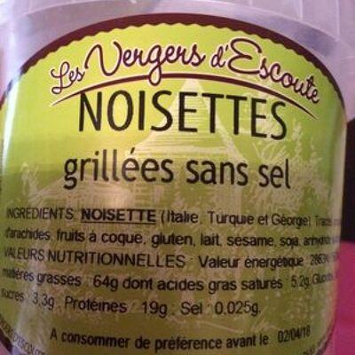 Noisettes grillees sans sel (Les vergers d'escoute)
