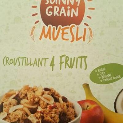 Muesli croustillant 4 fruirs (Sunny grain)