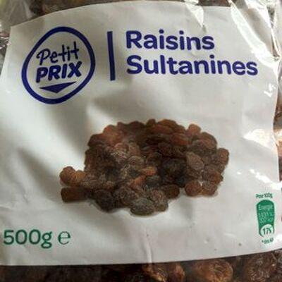Raisins sultanines (Petit prix)