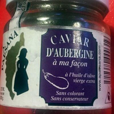 Caviar d'aubergine à ma façon (A paesana)