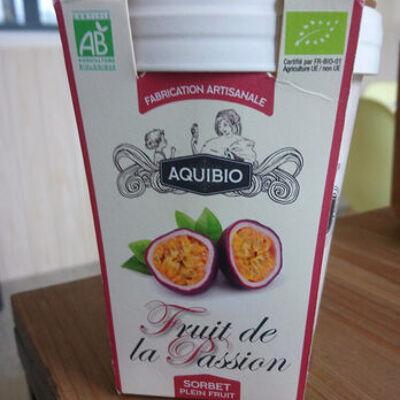 Sorbet plein fruit au fruit de la passion (Aquibio)