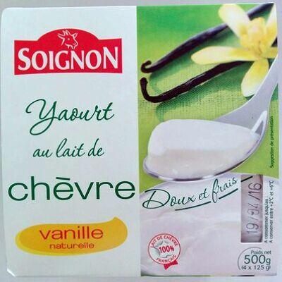 Yaourt au lait de chèvre - vanille naturelle (Soignon)