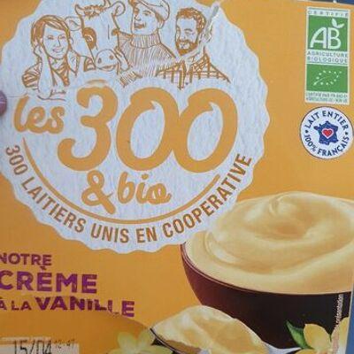Notre crème à la vanille (Les 300 & bio)