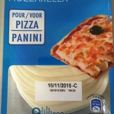 Mozzarella pour pizza / panini (22% mg) (Carrefour)