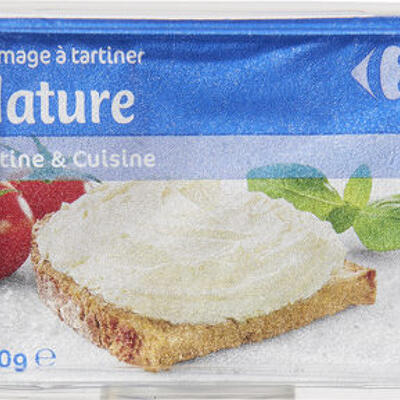 Fromage à tartiner nature (Carrefour)