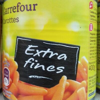 Carottes extra fines (Carrefour)