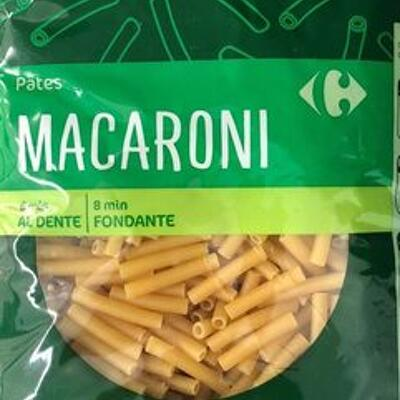 Pâtes macaroni (Carrefour)