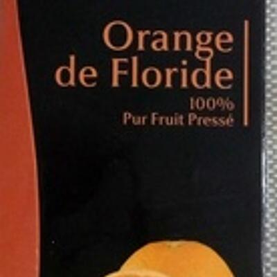 Orange floride, 100 % pur jus pressé (Carrefour sélection)