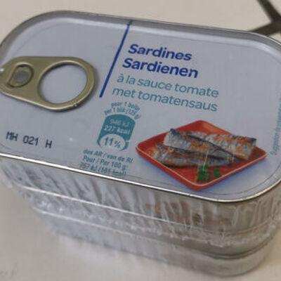 Sardines à la tomate 125g x3 (Carrefour discount)