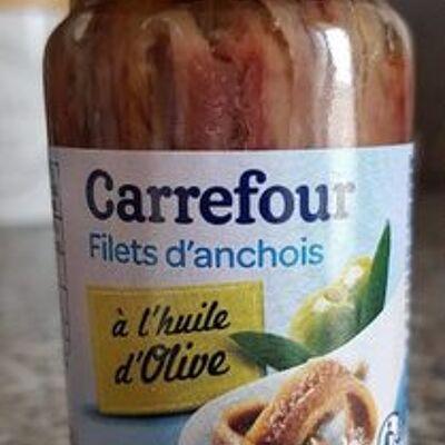 Filets d'anchois à l'huile d'olive (Carrefour)