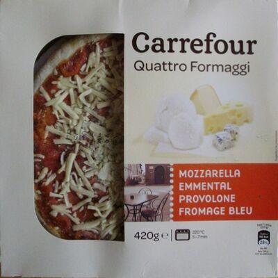 Quattro formaggi (mozzarella, emmental, provolone, fromage bleu) (Carrefour)