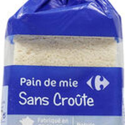 Pain de mie sans croûte nature (Carrefour)