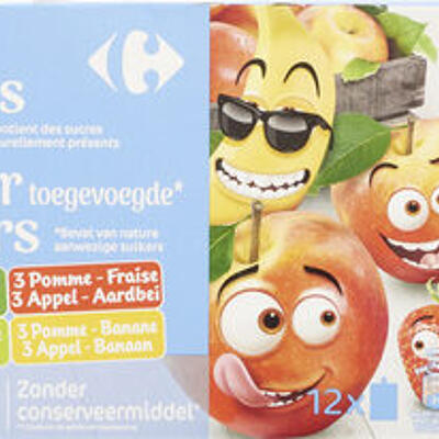 Sans sucres ajoutés* * contient des sucres naturellement présents (Carrefour kids)