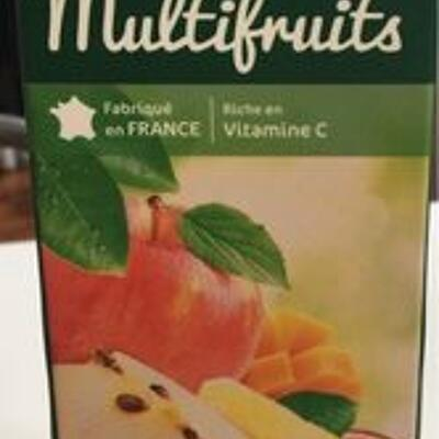 Multifruits, 100 % pur fruit pressé (Carrefour)