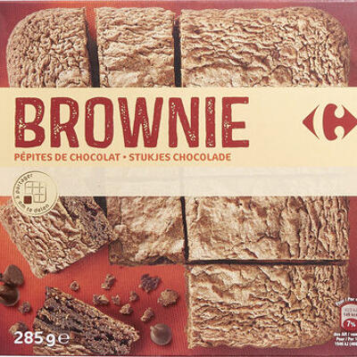 Brownies pépites de chocolat (Carrefour)