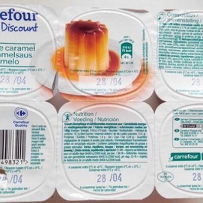 Flan nappé de caramel (Carrefour discount)