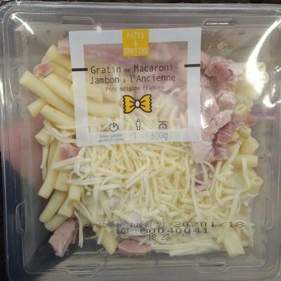 Gratin de macaroni jambon à l'ancienne (Carrefour)