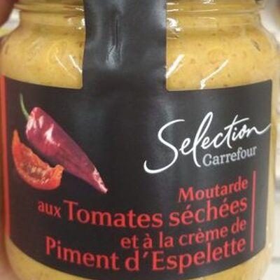 Moutarde aux tomates séchées et crème de piment d'espelette (Carrefour)
