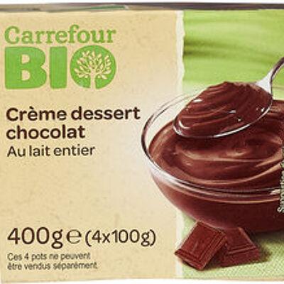 Crème dessert chocolat (Carrefour bio)