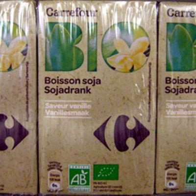 Boisson soja saveur vanille (Carrefour)