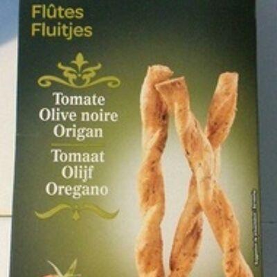 Flûtes tomate olive noir origan (Carrefour)