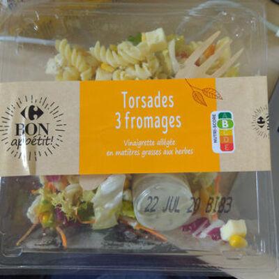 Torsades aux 3 fromages (Carrefour)
