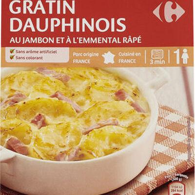Gratin dauphinois au jambon a l'emmental râpé (Carrefour)